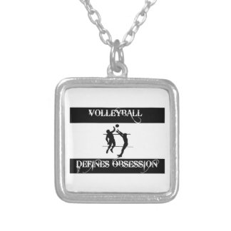 obsessed with volleyball custom necklace
