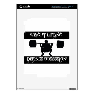 obsessed with  weight-lift iPad 3 decals