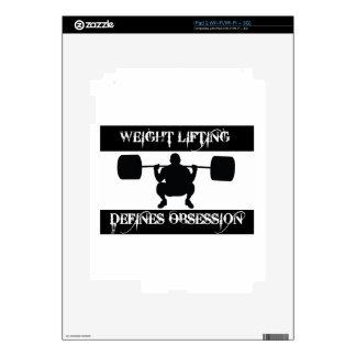 obsessed with  weight-lift iPad 2 decal