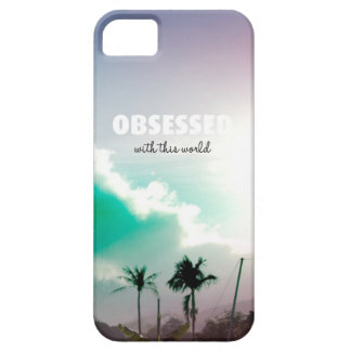 Obsessed world typography art iPhone SE/5/5s case