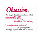 Obsession Definition Post Card