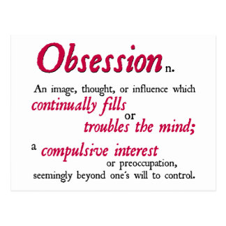 Obsession Definition Postcard