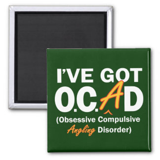 Obsessive Angling Disorder 2 Inch Square Magnet
