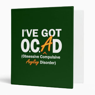 Obsessive Angling Disorder 3 Ring Binder