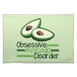 Obsessive Avocado Disorder Cool Green Cloth Placemat