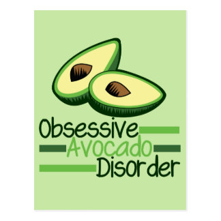 Obsessive Avocado Disorder Cool Green Postcard