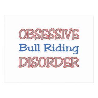 Obsessive Bull Riding Disorder Postcard
