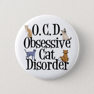 Obsessive Cat Disorder Button