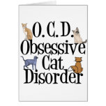 Obsessive Cat Disorder Card