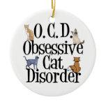 Obsessive Cat Disorder Christmas Ornament