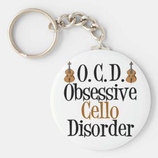 Obsessive Cello Disorder Basic Round Button Keychain