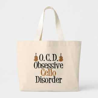Obsessive Cello Disorder Large Tote Bag