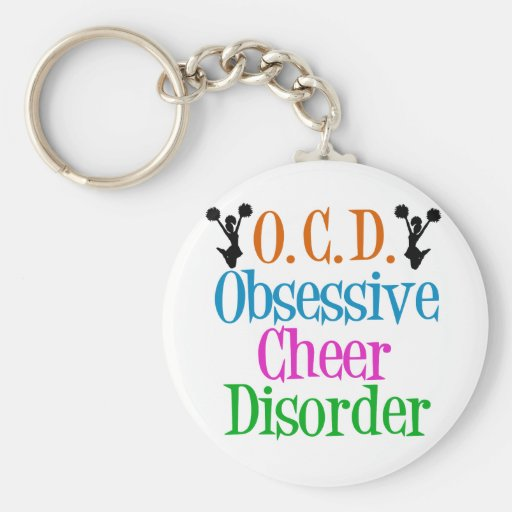 Obsessive Cheer Disorder Basic Round Button Keychain