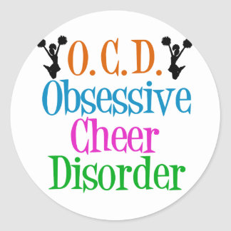Obsessive Cheer Disorder Classic Round Sticker