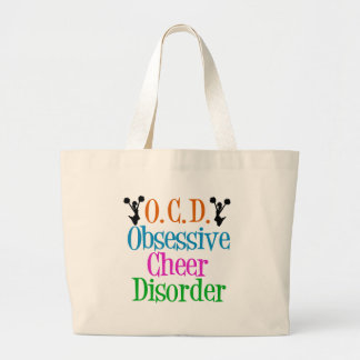Obsessive Cheer Disorder Large Tote Bag