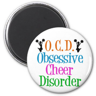 Obsessive Cheer Disorder 2 Inch Round Magnet