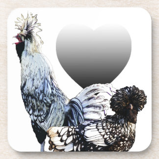Obsessive Chicken Disorder: Polish Crested Beverage Coaster