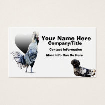 Obsessive Chicken Disorder: Polish Crested Business Card