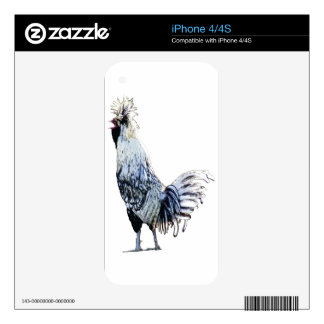 Obsessive Chicken Disorder: Polish Crested iPhone 4S Decal