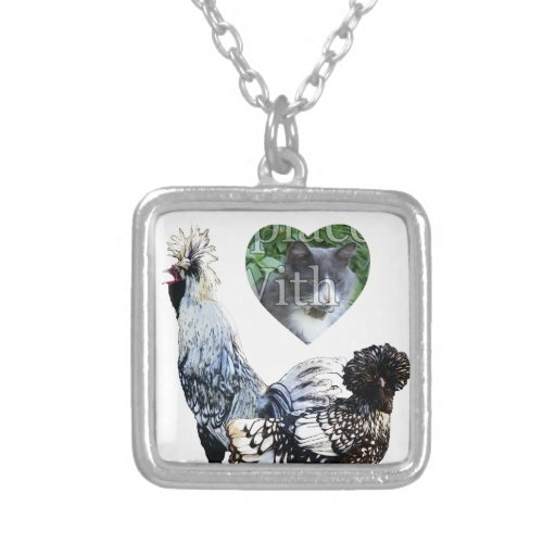 Obsessive Chicken Disorder: Polish Crested Personalized Necklace