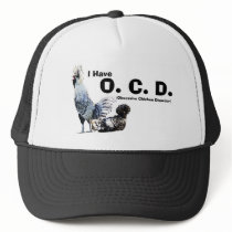 Obsessive Chicken Disorder: Polish Crested Trucker Hat