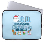 Obsessive Christmas Disorder (blue) Computer Sleeves