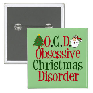Obsessive Christmas Disorder Button