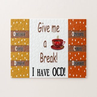 Obsessive Coffee Disorder - OCD Jigsaw Puzzle