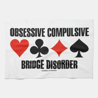Obsessive Compulsive Bridge Disorder (OCBD) Hand Towels