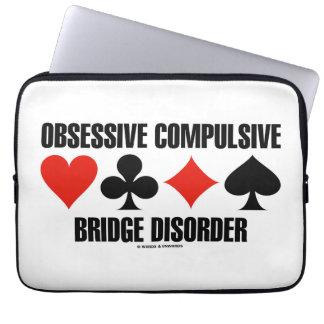 Obsessive Compulsive Bridge Disorder (OCBD) Laptop Computer Sleeves