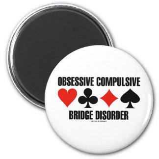 Obsessive Compulsive Bridge Disorder (OCBD) 2 Inch Round Magnet
