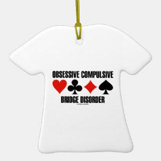 Obsessive Compulsive Bridge Disorder (OCBD) Double-Sided T-Shirt Ceramic Christmas Ornament