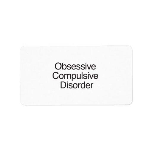 Obsessive Compulsive Disorder.ai Address Label