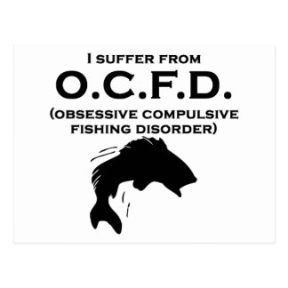 Obsessive Compulsive Fishing Disorder Post Cards