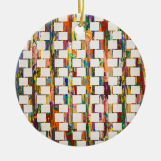 Obsessive Compulsive Zipper Ceramic Ornament