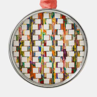Obsessive Compulsive Zipper Metal Ornament