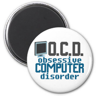 Obsessive Computer Disorder 2 Inch Round Magnet