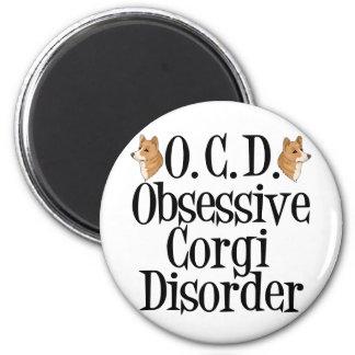 Obsessive Corgi Disorder 2 Inch Round Magnet