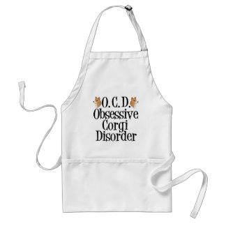 Obsessive Corgi Disorder Adult Apron