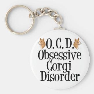Obsessive Corgi Disorder Basic Round Button Keychain