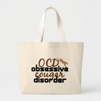 Obsessive Cougar Disorder Large Tote Bag