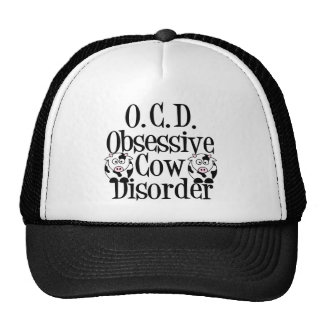 Obsessive Cow Disorder Trucker Hats