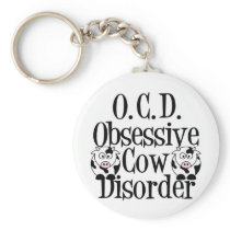 Obsessive Cow Disorder Keychain