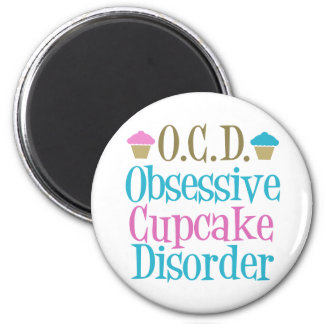 Obsessive Cupcake Disorder 2 Inch Round Magnet