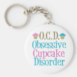 Obsessive Cupcake Disorder Basic Round Button Keychain
