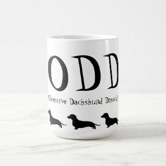Obsessive Dachshund Disorder Classic White Coffee Mug