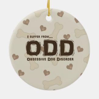 Obsessive Dog Disorder Ceramic Ornament