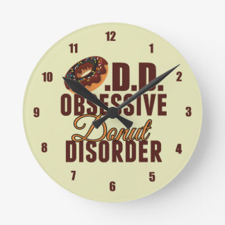 Obsessive Donut Disorder Round Clock