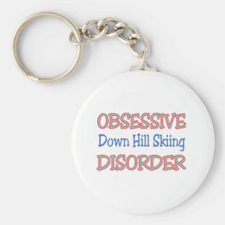 Obsessive Down Hill Skiing Disorder Key Chains