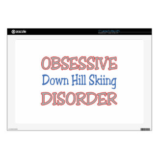 """Obsessive Down Hill Skiing Disorder Decal For 17"""" Laptop"""